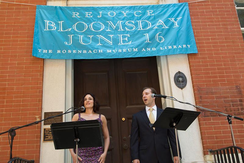 Soprano Abla Hamza and tenor Corey Bonar sing excerpts from ULYSSES on Bloomsday at the Rosenbach Museum and Library.