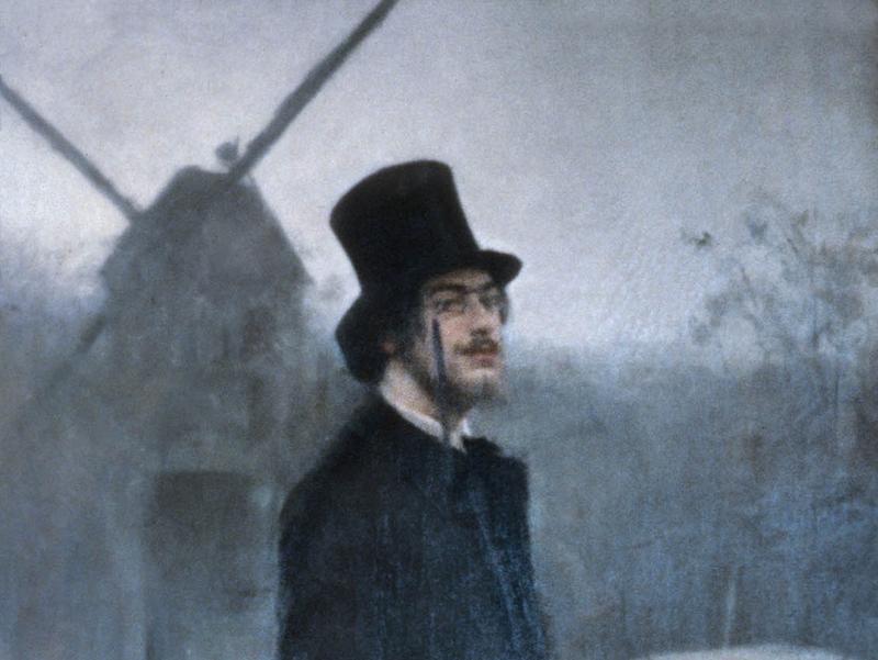 Erik Satie, from Moulin de la Galette (The Bohemian), Ramon Casas, (1891)