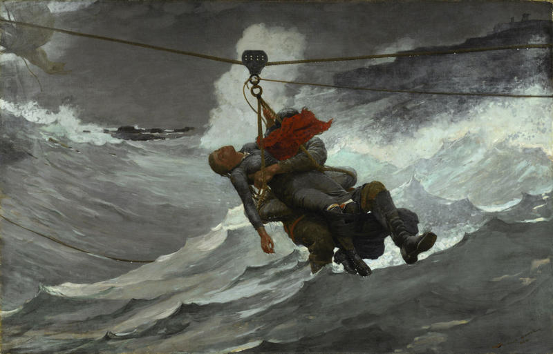 The Life Line by Winslow Homer, 1884, is one of the paintings that inspired Dirk Brossé's new composition.