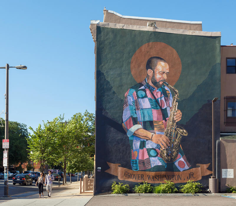 Grover Washington, Jr. Mural at Broad and Diamind streets near Temple University