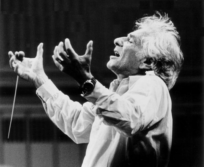 Composer, conductor, and educator Leonard Bernstein (1918-1990)