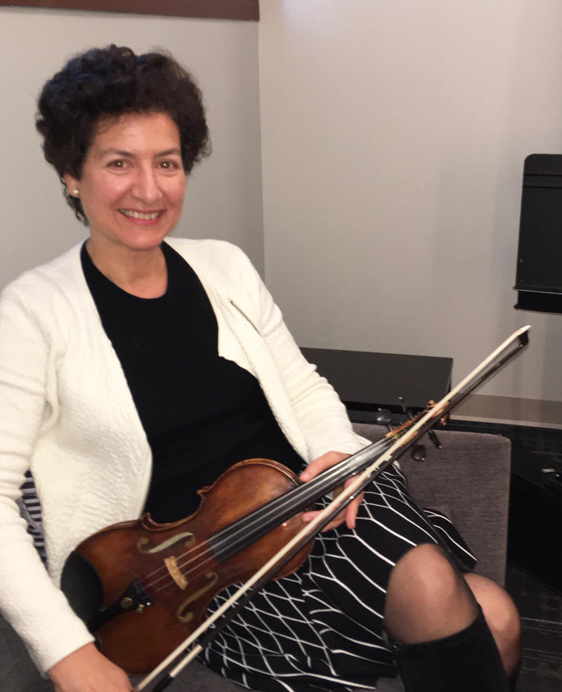 Violinist Barbara Govatos