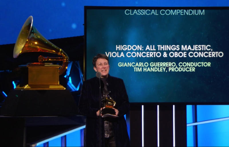 Composer Jennifer Higdon brought home two Grammy awards this year.