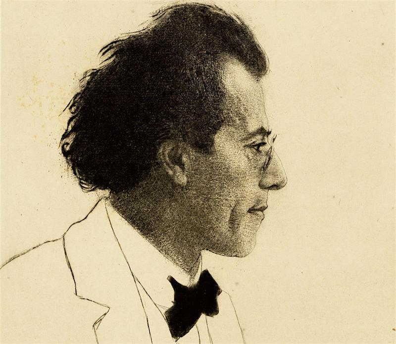 Gustav Mahler, by Emil Orlik, 1902