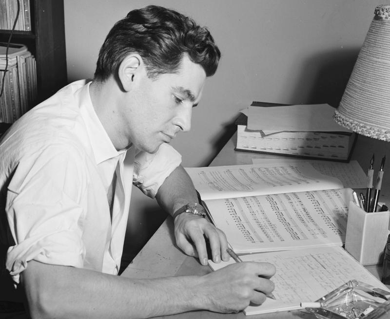 Leonard Bernstein in his apartment, New York, N.Y., between 1946 and 1948