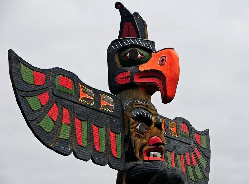 Thunderbird totem. Victoria, British Columbia