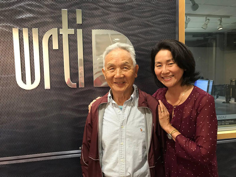 WRTI's Debra Lew Harder with her father, Sanghwan Lew
