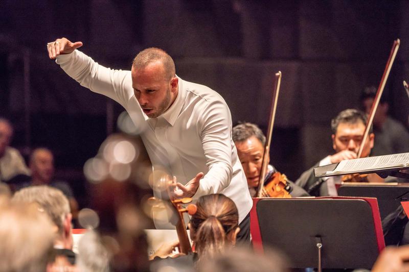Yannick Nézet-Séguin conducting The Philadelphia Orchestra at Haifa Auditorium, HaCarmel Center