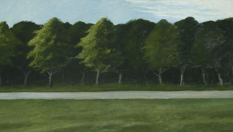 Road and Trees, 1962, by Edward Hopper, Oil on Canvas, Bequest of Daniel W. Dietrich, II, 2016