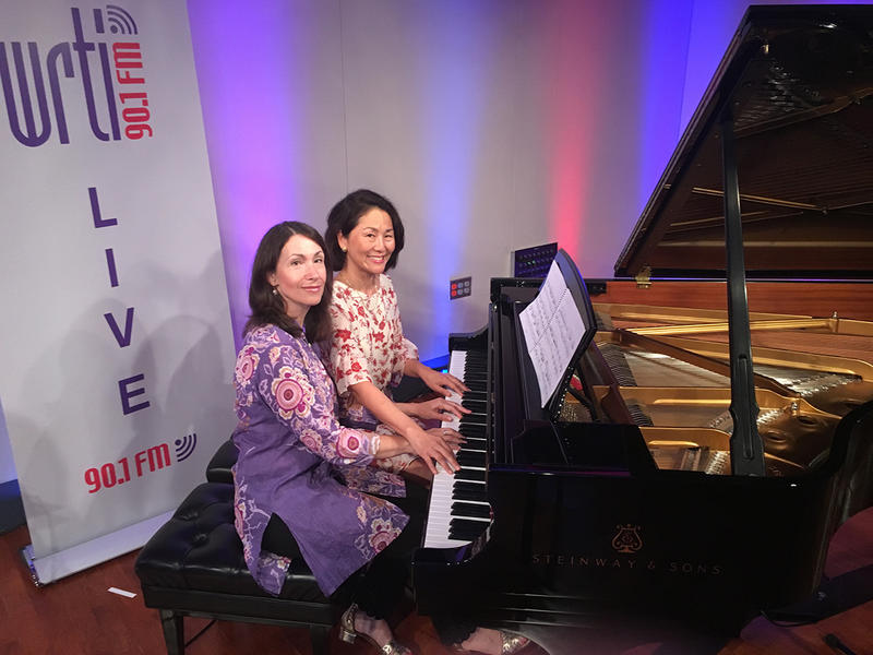Pianists Eleonor Bindman and Debra Lew Harder in the WRTI Performance Studio