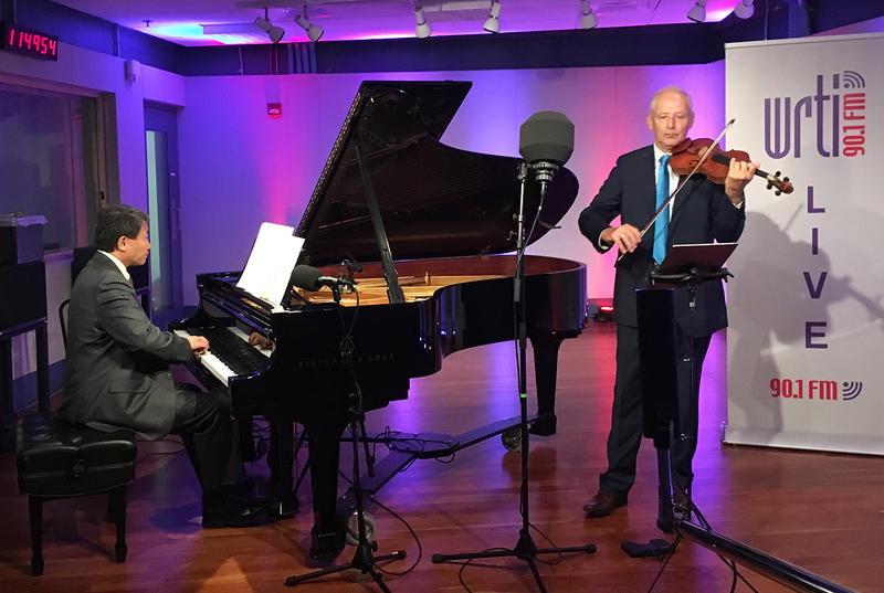 Pianist Xun Pan and violinist Simon Mauer