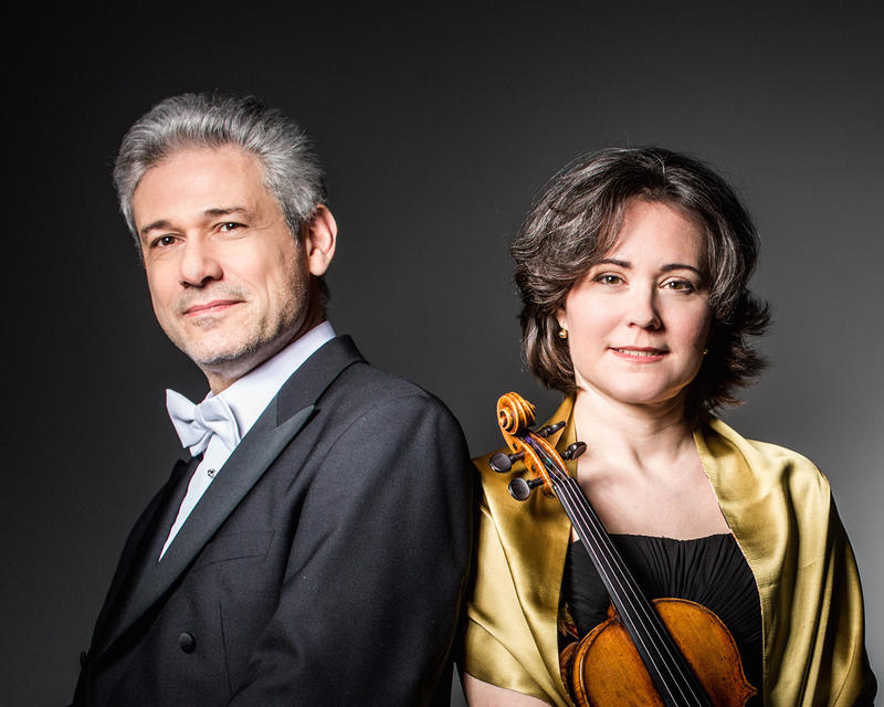 Pianist Vladimir Stoupel and violinist Judith Ingolfsson