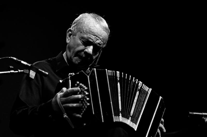 Astor Piazzolla performs live on stage at The North Sea Jazz Festival in The Hague, Holland on July 12, 1985