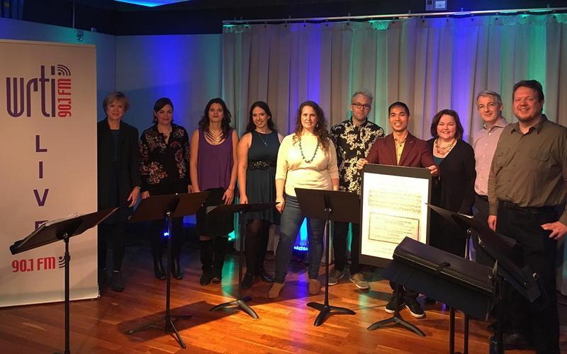 Members of Craft Works Music in the WRTI Performance Studio on November 7, 2018