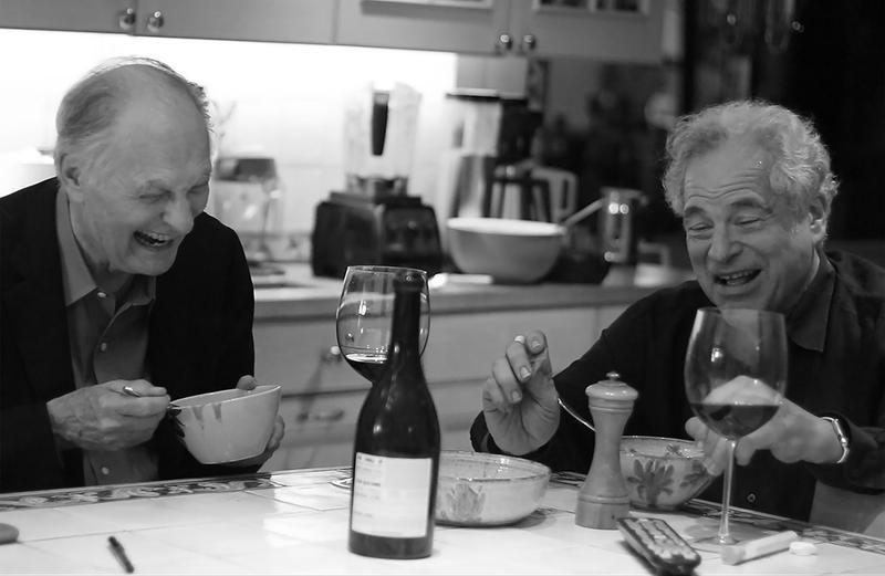 Alan Alda with Itzhak Perlman in a scene from the documentary, Itzhak.