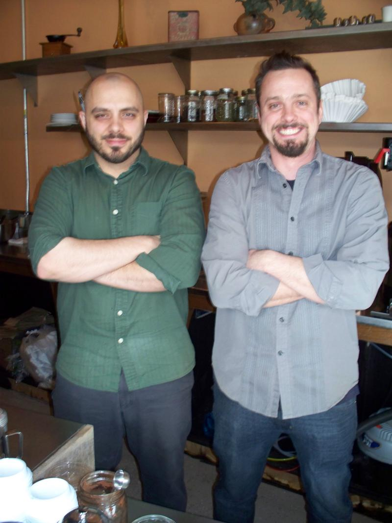 Matt Godard, owner (right) with coworker (left)