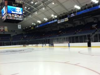 The Syracuse Crunch is the first professional hockey team to play on ice made from recycled rainwater
