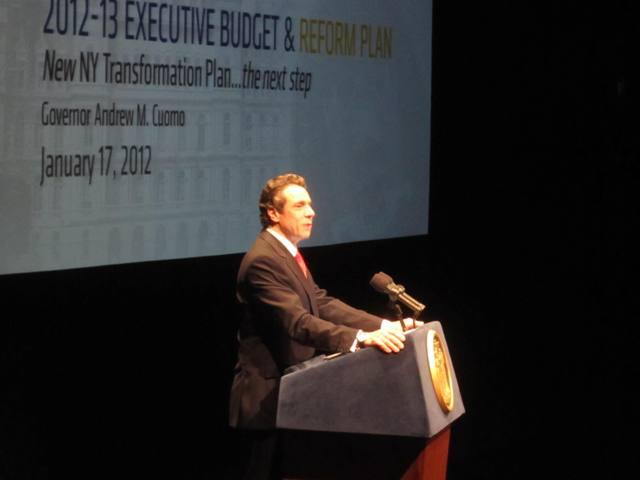 Gov. Andrew Cuomo delivers his 2012 budget