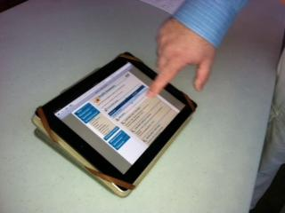 A demonstration of the Upstate MyChart app