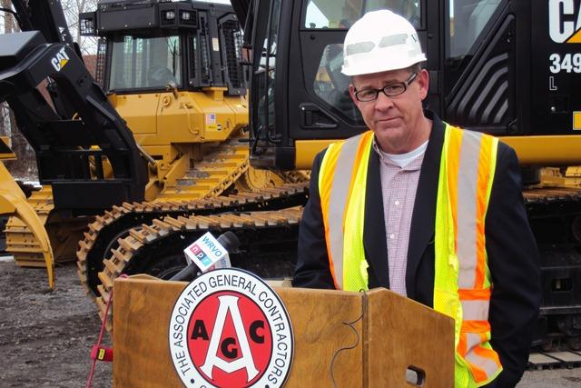 Rich Anderson has struggled to keep employment up at his family owned construction business, Vector. He's had to take contracts as far away as Albany.