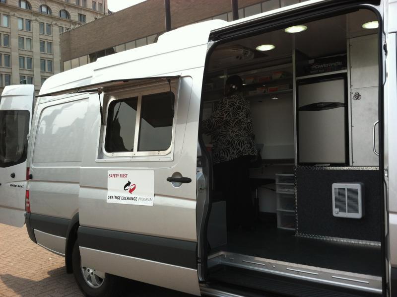 The needle exchange program van.