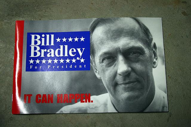 A campaign poster for Bill Bradley.