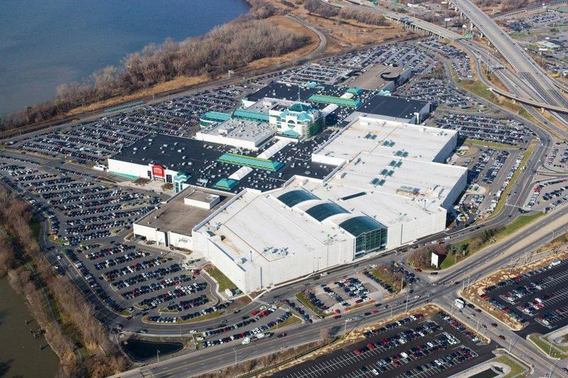 An aerial shot of Destiny USA.