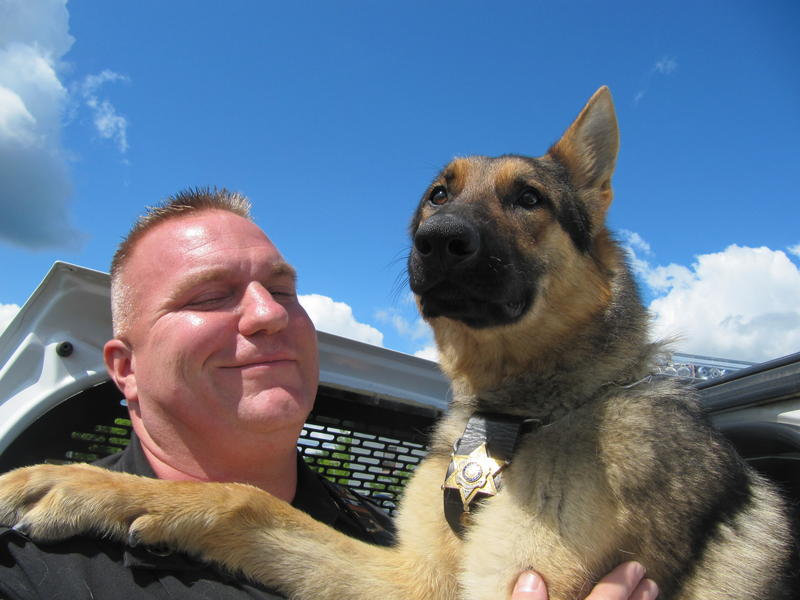 Columbia County Sheriff Deputy Heath Benansky and Apollo.