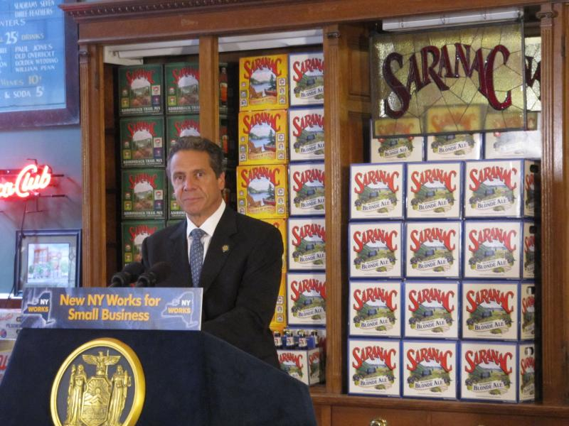Gov. Andrew Cuomo at Matt Brewery in Utica