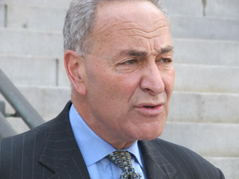 US Senator Charles Schumer speaking on legislation to ban bath salts and other similar substances.