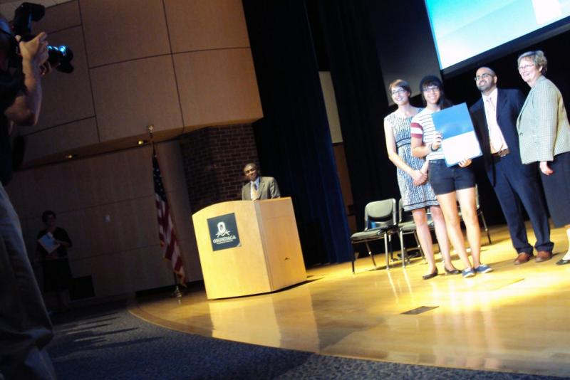 Onondaga Community College held a closing ceremony for a summer prep program for its Say Yes to Education scholars Thursday.