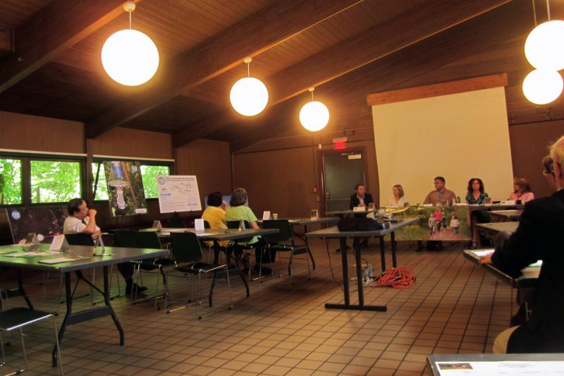 Local government and health officials met Tuesday at Beaver Lakes Nature Center in Baldwinsville to discuss West Nile prevention.