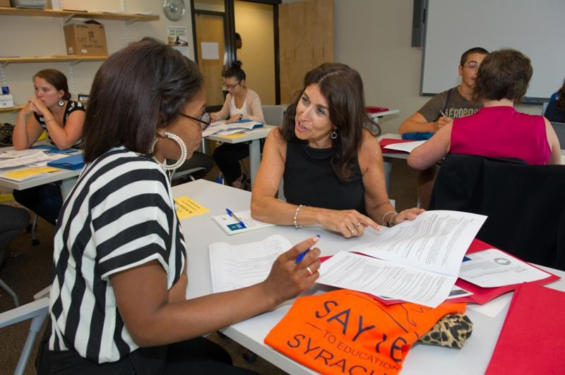 Say Yes to Education hosted a resume workshop for city teens this summer.