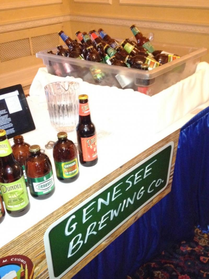 New York produced beer on display at the governor's mansion