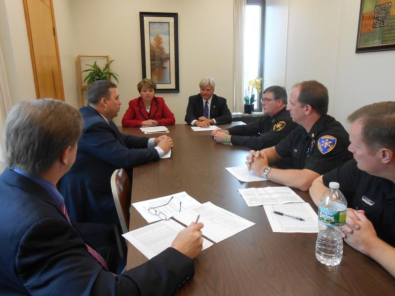 State Senator Patty Ritchie held a meeting Monday in Watertown with law enforcement and elected officials.