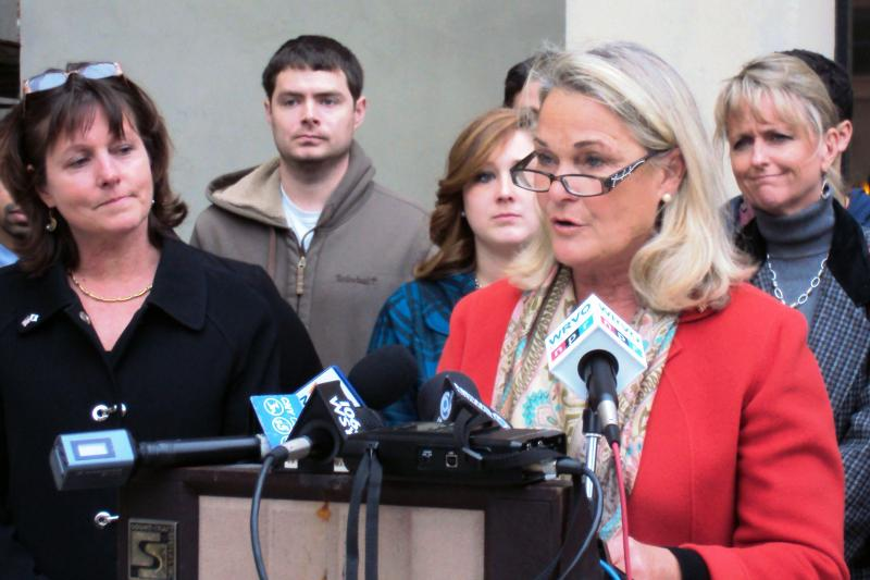 Rep. Ann Marie Buerkle (R-Onondaga Hill) gave a brief concession speech Friday afternoon.