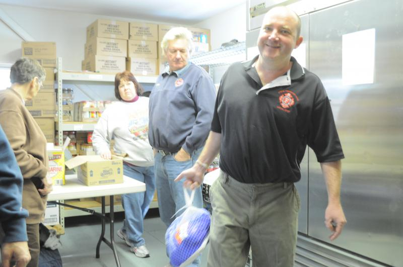 Volunteers at the Human Concerns Center in Oswego.