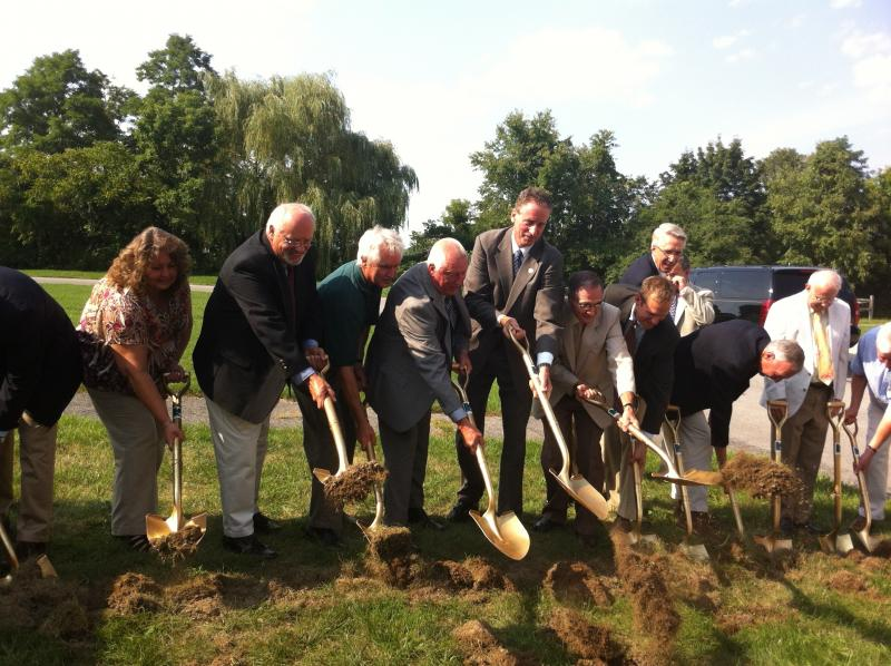 Lt.Governor Bob Duffy and Finger Lakes Museum officials breaking ground on a new educational and cultural Discovery Campus.
