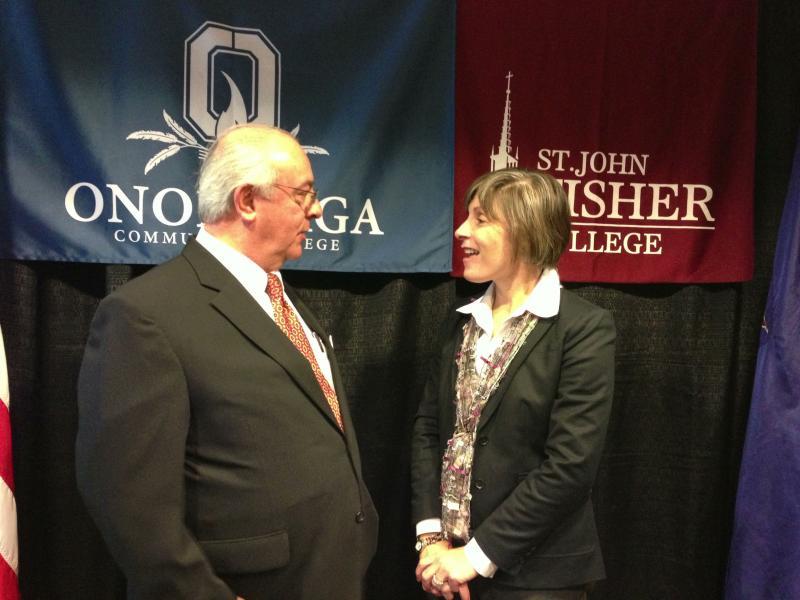 St. John Fisher College President Donald Bain & OCC Interim President Margaret O'Connell