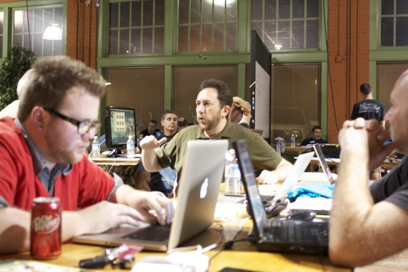 The scene at a Startup Weekend in Pheonix, Ariz.