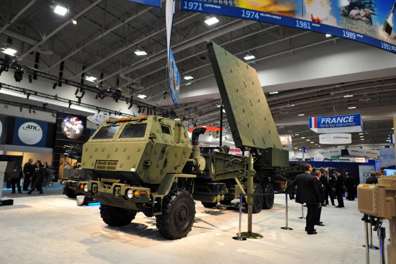 A Medium Extended Air Defense Systems on display.
