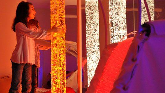 Multi-sensory room at Galisano Children's Hospital is a get-away for kids undergoing treatment