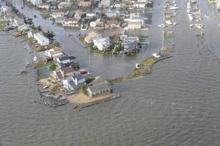 Long Island, New York was inundated with flood water and damage from Super storm Sandy.