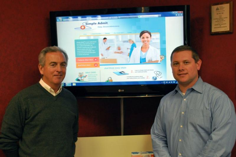 Dan Coholan, left, and Mike Horning founded the web-based surgical admisson system Simple Admit three years ago.