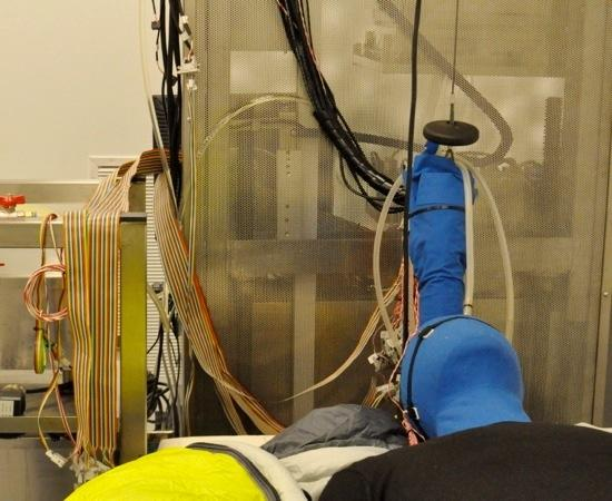 A heat dummy at Cornell University's Ergonomics Center, used to study the affects of different environments on the body.