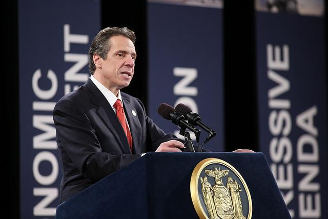 Governor Cuomo delivering his 2013 State of the State Address in Albany.