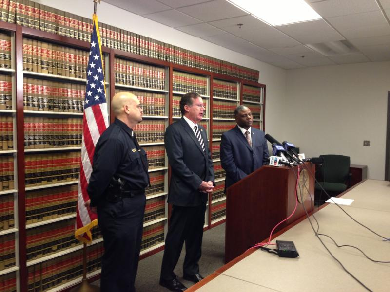 Onondaga County District Attorney William Fitzpatrick and Syracuse police at Tuesday's news conference