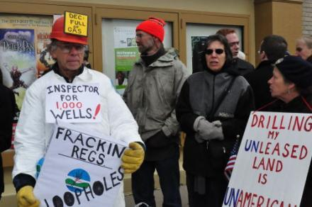 Opponents of hydrofracking are pushing the state to delay the permitting process until a health impact study is performed.