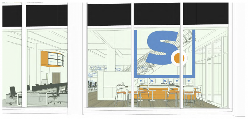Architectural rendering of what the new Syracuse Media Group offices will look like