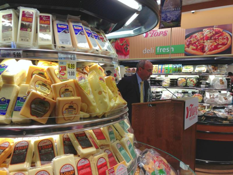 TOPS President Frank Curci at the opening of their new grocery store on Syracuse's north side